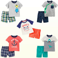 New Carter's Baby Boys' Tee Shirt & Shorts 2 Piece Sets Playwear NWT Summer