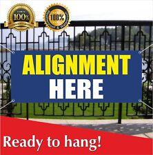 Alignment Here Banner Vinyl / Mesh Banner Sign Flag Auto Workshop Tire Balancing