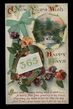 Greetings New Year 365 Days Happiness mailed for delivery New Years Day 1918