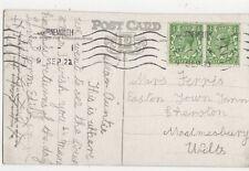 Mrs Ferris Easton Town Farm Sherston Malmesbury 1922 300a