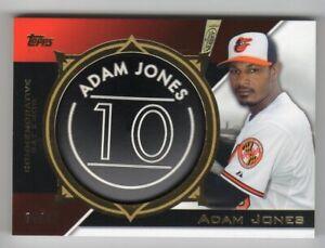 2015 TOPPS ADAM JONES BLACK COMMEMORATIVE BAT KNOB - #64/99