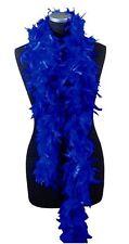 Boa bleu 2 mètres 80 gr Glamour Sensuel Plumes naturelles show spectacle theatre