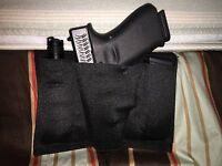 Bed holster rack bedside mattress couch tactical gun 2 magazine AMBIDEXETROUS