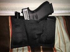 Bed holster rack bedside mattress couch tactical gun 2 magazine AMBIDEXETROUS