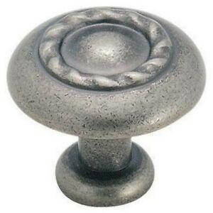 """Amerock """"Rope Braid"""" BP1585-WN Weathered Nickel Pewter Cabinet Knob"""