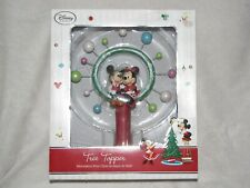 Disney Store Christmas Tree Topper Mickey Minnie Mouse Retro Look Star