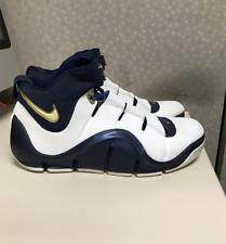 Nike Zoom LeBron 4 IV West Coast Size 11.5 White Navy Blue Gold 314647-111