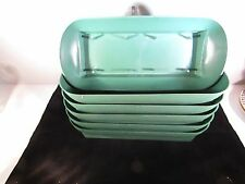 6 rectangle green plastic design bowls for fresh flower centerpieces