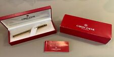 CARAN d'ACHE MADISON CISELE Fountain Pen Gold Plated NEVER USED IN BOX VERY NICE