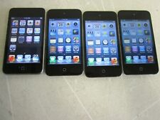 Apple iPod Touch Lot  (3- A1367 4th Gen) (1- A1288  2nd Gen) No Charging Cords