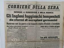 Corriere Della Sera Giugno 1940 In Vendita Ebay