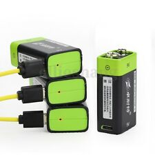 High Capacity ZNTER S19 9V 400mAh Li-po Li-ion Polymer USB Rechargeable Battery