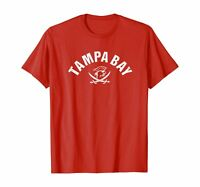 Vintage Red Tampa Bay Old School Pirate TB Cool Tampa Bay T-Shirt Red S-5XL