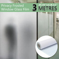 """36""""x 10FT Frosted Privacy Home Decoration Window Door Glass Tint Film Static PVC"""