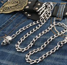 Skull Pendant Connect Classic Biker Trucker Keychain Key Jean Wallet Chain NCS76