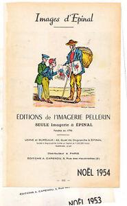 Catalogues de l'Imagerie d'Epinal 1953 et 1954.