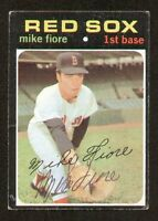 Mike Fiore #287 signed autograph auto 1971 Topps Baseball Trading Card
