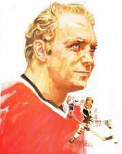 "Bobby Hull-Chicago Blackhawks 1970 Keds Shoes Poster 8 1/2"" X 11"""