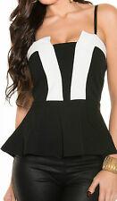 Taillenlange Damenblusen, - tops & -shirts mit Bandeau-Trägertops