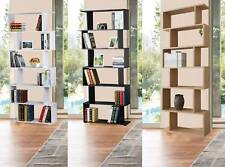 WestWood Modern Book Shelves | 6 Tier S Shape Bookshelf Case Storage - PB01