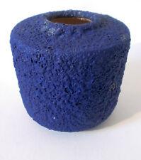 ARGENTO Cardo VASO ceramica H 13 cm German Mid MOD CERAMIC RARE BLUE Crusty Glaze