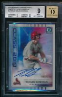 NOLAN GORMAN AUTO Class of 2018 Bowman Draft Chrome REFRACTOR #/250 RC BGS 9/10