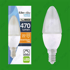 10x 5.5W (=40W) Dimmable LED Pearl Candle, SES E14 Low Energy Light Bulb Lamps