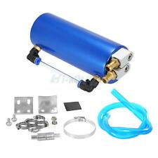 750ml Universal Aluminum Engine Oil Catch Tank Can Reservoir Kit Round Blue