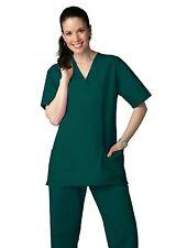 Scrub Set Xl Hunter Green V Neck Top Drawstring Pants Unisex Uniforms 2 Piece