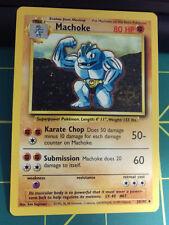 Machoke Pokemon Card 34/102 Basic Pokemon Great shape! 80 Hp Superpower Pokemon