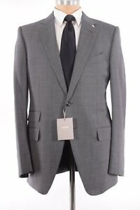 Tom Ford NWT Suit Size 52 42R In Gray Black Birdseye O'Connor Wool Blend