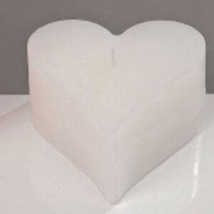 Hochzeitskerze Herzkerze Hochzeit Taufe Tischdeko 8 Std. Brenndauer Weiß