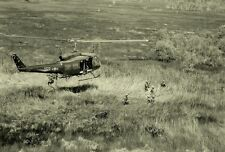 "UH-1D Huey Helicopter hovers above Troops 13""x 19"" Vietnam War Photo Poster 126"