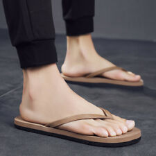 Fashion Mens Flip Flop Clip toe Flats Casual Summer Slippers Shoes Beach Sandals