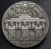 1937 German WW2 Commemorative COIN HITLER Nurnberg