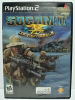 SOCOM: U.S. Navy SEALs (Sony PlayStation 2, 2002) PS2 No Manual TESTED