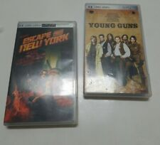 Lot of 2 psp UMD movies Escape From New York & Young Guns