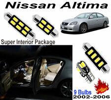 9pcs Super White LED Interior Light Kit For Nissan Altima 2002-2006 (No Sunroof)