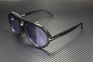 Tom Ford Neughman FT0882 01Y Shiny Black Lilac 60 mm Men's Sunglasses