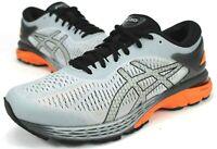 Asics Gel Kayano 25 Running Shoe, Men Sz 8, Women 9.5, Grey Orange 1011A019-022