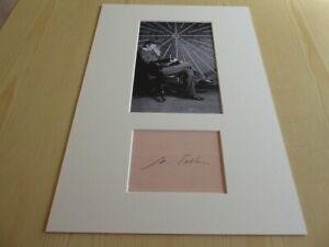 Nikola Tesla mounted photograph & preprint signed autograph card