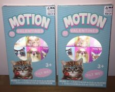 (2) Brand New Motion Kittens 32 ct. Valentines Day Cards (64 Cards Total)