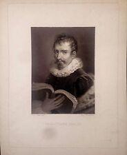 RETRATO. Sebastiano Serlio, Bernardi Iacopo,Raggio Vincenzo  designo, ca. 1830.
