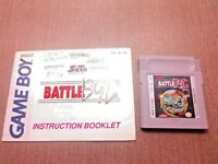 Nintendo Game Boy Cart Manual Only Tested Battle Bull CLEAN LABEL Ships Fast