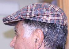 Vintage PENDLETON Men's Newsboy Driving Wool Plaid Cap Golf Cabbie Hat SIZE 7