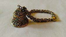 Vintage Perfume Poison Charm Bracelet Locket Turquoise Pearl Coral 1950
