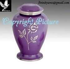Avondale Purple Funeral Urn, Brass Urn, Memorial Urn -Adult Urn~Great Deal!