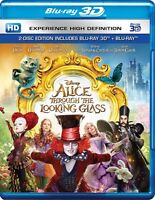 Alice Through the Looking Glass (2016) (Blu-ray 3D + Blu-ray) (All)(2 DISC)(New)