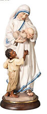 Statua Madre Teresa in legno con Bimbi, Mother Therese Woodcarving with Children
