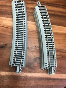 """Lot of 8 HO Bachman 28""""R 18 degree Curve Nickel Silver E-Z Track Preowned (2D)"""